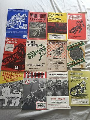 DEFUNCT  TRACK    SPEEDWAY  PROGRAMMES  x  12  INCLUDES  1953