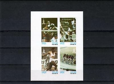 Garsey Islands  Scotland  , Olympics 1980  -  Stamps imperf