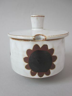 Vintage Retro BRIGLIN Pottery Sunflower Sugar / Jam / Marmalade Pot