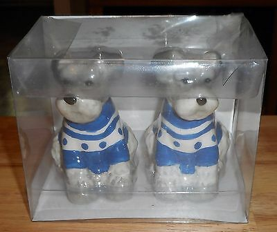 New Set Of Schnauzer Dog Salt & Pepper Shakers By American Atelier