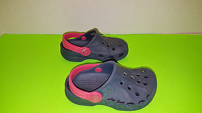 Crocs Unisex Blue & Red Slip On Shoes -Size 6 or 7