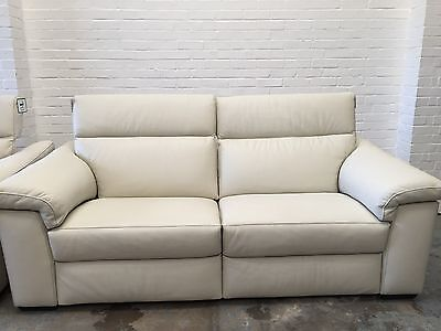 Ex Display Natuzzi Sensor Electric Recliner 3 Seater Sofa(2 Available)