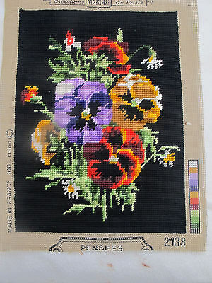 Vintage  Panel  Needlepoint Tapestry Completed