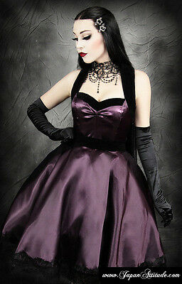 Dress violet satin brocade Pin up halter heart shaped, Restyle