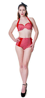 Swimsuit pin-up retro red Banned Banned