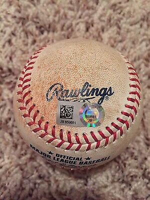 5/24/2017 Red Sox Sam Travis MLB DEBUT Game used ball