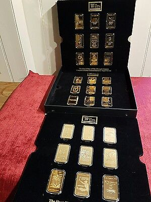 Olympic host cities 24c gold ingots 27 set.  limited edition