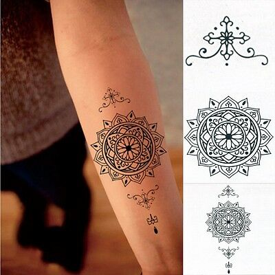 Datura Totem Tattoo Sticker Body Art Men Women Arm Temporary Tattoos Fake Tatoo