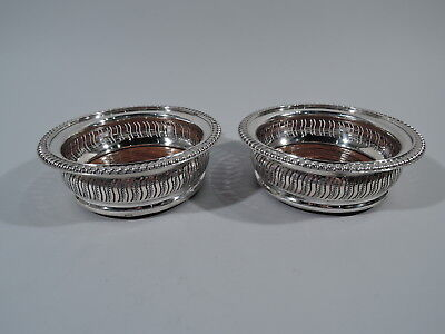 Georgian Coasters - Traditional Style Wine Bottle - English Sterling Silver