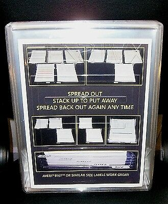 EZSTAX Organization System Small Size 20 Pack New For Filing Papers Or Clothes
