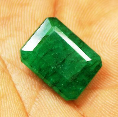 "10.00 Ct. Natural Emerald Cut ""Certified"" Colombian Loose Emerald Gemstone"