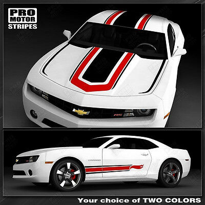 Chevrolet Camaro Coupe NS1 Style Stripes Complete Set Decals 2014 2015 Pro Motor