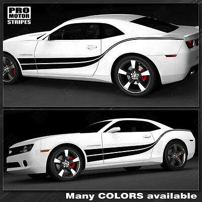 Chevrolet Camaro 2010-2015  Double Wave Side Stripes (Choose Color)