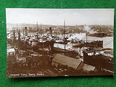 Barry    Docks    Glamorgan    Wales    Rp    Vintage Postcard