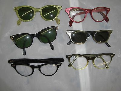 Lot of  Vintage Cat's eye eyeglasses frames