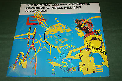 """The Criminal Element Orchestra f/ Wendell Williams - Everybody Vinyl 12"""" Single"""