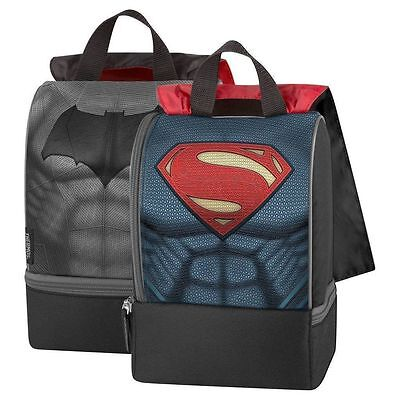 Thermos Batman V Superman Insulated Dual Lunchbox Kit, Lunch Bag Tote w/ Cape