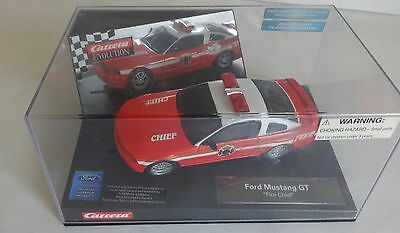 """Scalextric CARRERA 27177 EVOLUTION 1/32nd MUSTANG GT """"FIRE CHIEF"""" Nr Mint in Box"""