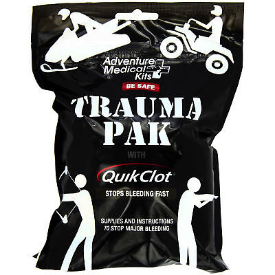 Adventure Medical Kits Trauma Pak with QuikClot Pad Gloves Duct Tape Bandage
