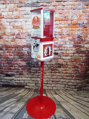 Coke vintage gumball  candy machine coin operated COCA COLA + stand