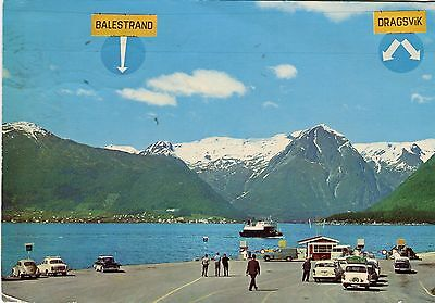 Norway Norge Sogn Sognefjord Hella - Ferry Terminal 1966 postcard