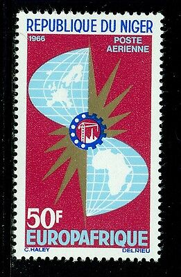 Niger MNH Selections: Scott #C62 50Fr EUROPAFRIQUE Industry MAP 1966 $$