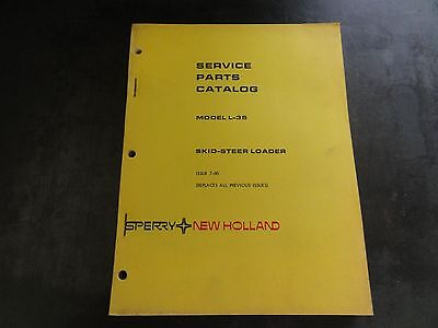 New Holland Sperry L-35 Skid Steer Loader Service Parts Catalog Manual   7-80