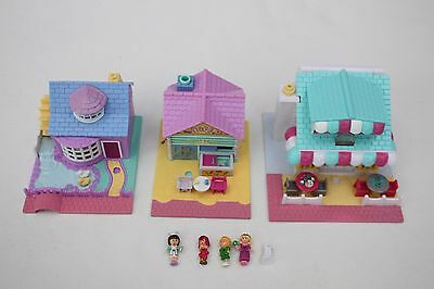 Polly Pocket Bundle Three Houses plus Figures