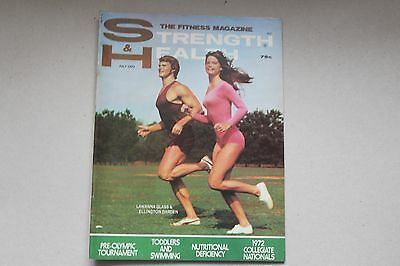 1972 Strength & Health Fitness Mage July Lewanna Glass E Darden Cover near MINT