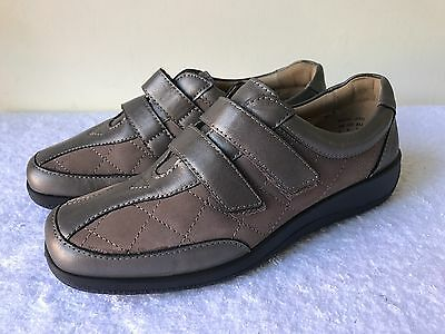 "HOTTER Comfort Concept ""Faith"" Leather SlipOn/Velcro Comfort Shoes SIZE 5 VGC"