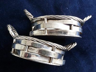 vintage Silver Plate Bologna 2R Made in Italy small baskets