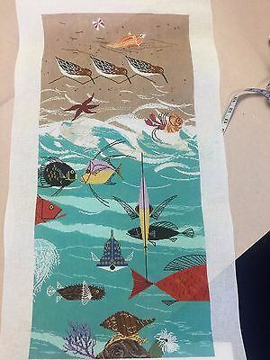 needlepoint canvas   CHARLEY HARPER      QUAIL AND FISH'ES AND CRITTERS