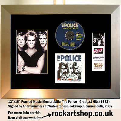 The Police CD *SIGNED BY ANDY SUMMERS BOURNEMOUTH 2007* Autographed Framed Sting