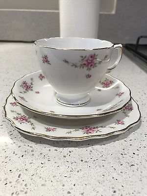 Princess Royal Osborne Staffordshire White mist tea cup saucer side plate