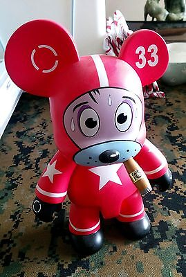 """Nervous Cosmonaut in Red by Frank Kozik 8"""" Qee Bear TOY2R"""