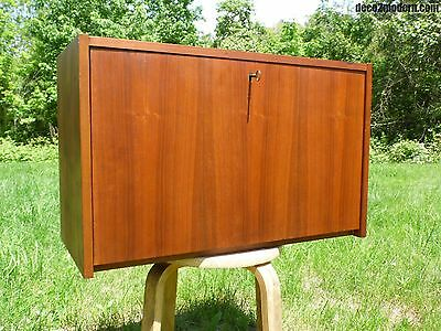 Vintage Mid Century Danish Modern Teak Modular Wall Unit Floating Cabinet Desk