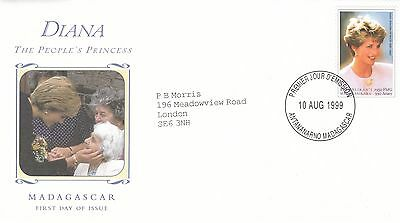 (02320) Madagascar FDC Princess Diana Death 10 August 1999