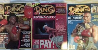 10 Issues of The Ring boxing magazine, Jan-Sep '91 & Feb '92 Collectors Edition