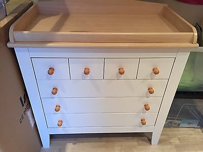 Mamas And Papas Savannah Changing Table With Drawers And Matching Shelf/Dawers