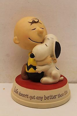 Snoopy Charlie Brown Hallmark Figurine ~ Life Doesn't Get Any Better ~ 2011