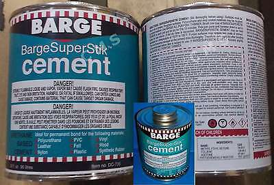 BARGE Super Stik Urethane Cement 1 Quart / 32oz Quabaug Tin Can SuperStik Stick