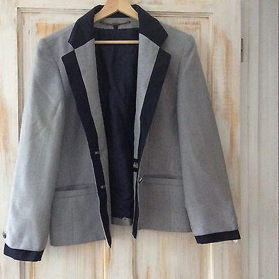 Vintage Women's Blazer Jacket Sz 14 By C&A Your Sixt Sense ,office Work Wear.