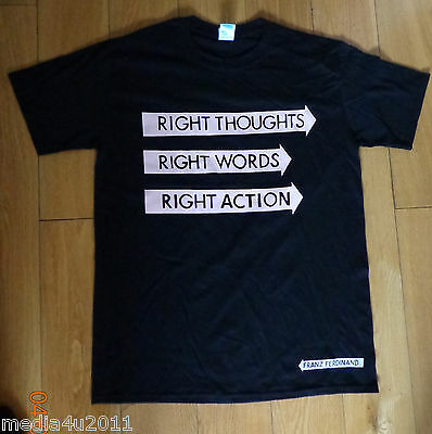 Franz Ferdinand Right Thoughts Right Words Right Action T Shirt Black Medium New