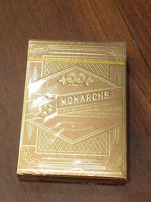 Gold Monarch Playing Cards - Rare Deck From Theory11