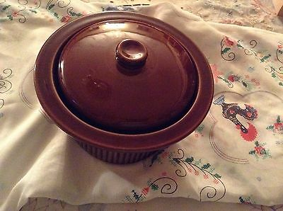 Brown heavy casserole dish