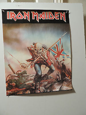 Vintage RARE IRON MAIDEN THE TROOPER ORIGINAL MUSIC POSTER