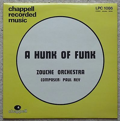 Zouche Orchestra - A Hunk Of Funk LP - 1977 Chappell UK - Library Funk Disco