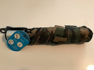 NWT New Shedrain Camouflage Umbrella Compact Auto Open Close 22in