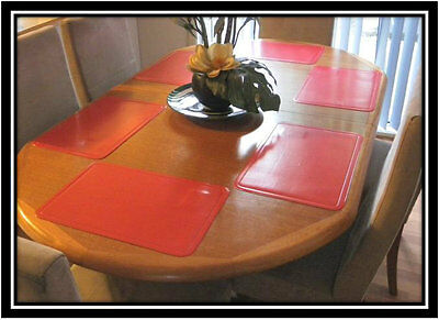 New Set of 6 Red Plain Kitchen Placemats Place Mats Dinner Table Decor Party