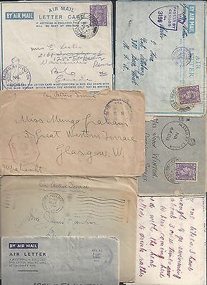 UK GB 1940's WARTIME FORCE MAIL COLLECTION OF 14 FOUR ARE STAMPLESS VARIOUS POs
